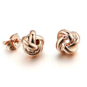 Boutique Rose Gold Knot Earrings